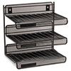 ROL22341 Mesh Three-Tier Letter Size Desk Shelf, 12 1/2 x 9 1/4 x 12 1/2, Black ROL 22341