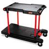 RCP430000BK Two Shelf Convertible Utility Cart, 23-3/4w x 45-1/4d x 43-3/4h, Black RCP 430000BK