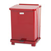 RCPST7ERDPL Defenders Biohazard Step Can, Square, Steel, 7 gal, Red RCP ST7ERDPL