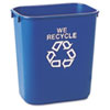 RCP295573BE Small Deskside Recycling Container, Rectangular, Plastic, 13 5/8 qt, Blue RCP 295573BE