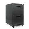 ALEPA542823CH Two-Drawer Mobile Pedestal File, 16w x 23-1/4d x 28-1/2h, Charcoal ALE PA542823CH