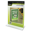 NUD38020Z Clear Plastic Sign Holder, Stand-Up, 8 1/2 x 11 NUD 38020Z