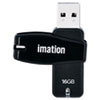 IMN27125 Swivel USB Flash Drive, 16 GB IMN 27125