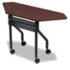ICE68078 OfficeWorks Mobile Training Table, Trapezoid, 48w x 18d x 29h, Mahogany ICE 68078