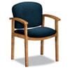 HON2111CAB90 2111 Invitation Series Wood Guest Chair, Solid Blue Fabric/Harvest HON 2111CAB90