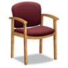 HON2111CBE62 2111 Invitation Series Wood Guest Chair, Wild Rose Fabric/Harvest HON 2111CBE62