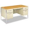 HON88962CL Mentor Series Double Pedestal Desk, 60w x 30d x 29-1/2h, Harvest/Putty HON 88962CL