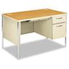 HON88251RCL Mentor Series Single Pedestal Desk, 48w x 30d x 29-1/2h, Harvest/Putty HON 88251RCL