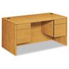 HON10573CC 10500 Series 3/4-Height Double Pedestal Desk, 60w x 30d x 29-1/2h, Harvest HON 10573CC