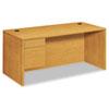 HON10584LCC 10500 Series 3/4-Height Pedestal Desk, 66 x 30 x 29-1/2, Harvest HON 10584LCC