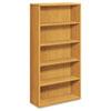 HON10755CC 10700 Series Bookcase, 5 Shelves, 36w x 13-1/8d x 71h, Harvest HON 10755CC
