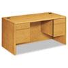 HON10771CC 10700 Series Desk, 3/4-Height Double Pedestals, 60w x 30d x 29-1/2h, Harvest HON 10771CC