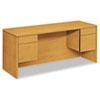 HON10565CC 10500 Series Kneespace Credenza With 3/4-Height Pedestals, 60w x 24d, Harvest HON 10565CC