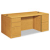HON10799CC 10700 Double Pedestal Desk w/Full-Height Pedestals, 72w x 36d x 29-1/2h, Harvest HON 10799CC