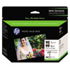 HP 95/99 Series Ink Cartridge/Paper Photo Value Pack w/100 Glossy 4 x 6 Sheets