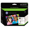 HP Custom 95 Kit of Vivera Ink Cartridge, 4 x 6 Glossy Premium Paper, 100 Sheets