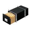FEL00511 StaxOnSteel Storage Box Drawer, Letter, Steel Frame, Black, 6/Carton FEL 00511