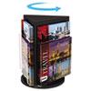 DEF592804 Countertop Revolving Literature Racks, 3 Compartments, 10-1/4w x 13h, Black DEF 592804