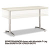 basyx Rectangular Training Table Top without Grommets