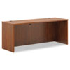 Laminate credenza shell with full-height modesty panel.