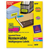 AVE6479 Removable Self-Adhesive Color-Coding Labels, 1 x 2-5/8, Assorted Neon, 360/Pack AVE 6479
