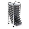 AVT34007 Portable Drawer Organizer, 15-1/4w x 13d x 37-5/8h, Chrome/Smoke AVT 34007