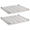 ALESW582424SR Industrial Wire Shelving Extra Wire Shelves, 24w x 24d, Silver, 2 Shelves/Carton ALE SW582424SR
