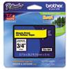 BRTTZE641 TZe Standard Adhesive Laminated Labeling Tape, 3/4w, Black on Yellow BRT TZE641