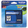 BRTTZE135 TZe Standard Adhesive Laminated Labeling Tape, 1/2w, White on Clear BRT TZE135
