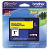 BRTTZE651 TZe Standard Adhesive Laminated Labeling Tape, 1w, Black on Yellow BRT TZE651
