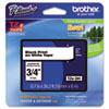 BRTTZE241 TZe Standard Adhesive Laminated Labeling Tape, 3/4w, Black on White BRT TZE241