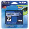 BRTTZE141 TZe Standard Adhesive Laminated Labeling Tape, 3/4w, Black on Clear BRT TZE141