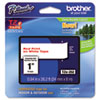 BRTTZE252 TZe Standard Adhesive Laminated Labeling Tape, 1w, Red on White BRT TZE252