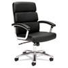 BSXVL103SB11 VL103 Executive Mid-Back Chair, Black Leather BSX VL103SB11