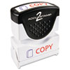 COS035532 Accustamp2 Shutter Stamp with Microban, Red/Blue, COPY, 1 5/8 x 1/2 COS 035532