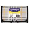 CLI58412 Expanding File, Plaid, Coupon, 13 pockets, 1.5