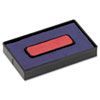 COS061797 Felt Replacement Ink Pad for 2000PLUS Economy Message Dater, Red/Blue COS 061797