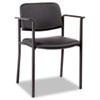 ALEUT49CS10B Stacking Guest Chair, PVC-Free Faux Leather, Black ALE UT49CS10B