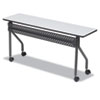 ICE68067 OfficeWorks Mobile Training Table, Rectangular, 72w x 18d x 29h, Gray ICE 68067