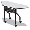 ICE68077 OfficeWorks Mobile Training Table, Trapezoid, 48w x 18d x 29h, Gray ICE 68077