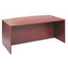 ALEVA227236MC Valencia Bow Front Desk Shell, 71w x 35-1/2d to 41-3/8d x 29-1/2h, Medium Cherry ALE VA227236MC