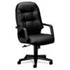 HON2091SR11T Leather 2090 Pillow-Soft Series Executive High-Back Swivel/Tilt Chair, Black HON 2091SR11T