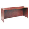 Laminate credenza shell with 3 mm edge banding and full-height modesty panel.