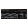 LOG920002912 K750 Wireless Solar Keyboard, 2.4 GHz/30 ft, Black LOG 920002912