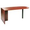 ALEVA277236MC Valencia Series D-Top Desk, 72w x 36d x 29-1/2h, Medium Cherry ALE VA277236MC