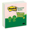 MMM654RP24AP Original Recycled Note Pads, 100 3 x 3 Sheets, Sunwashed Pier, 24 Pads/Pack MMM 654RP24AP