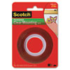MMM4010 Double-Sided Mounting Tape, Industrial Strength, 1 x 60, Clear/Red Liner MMM 4010