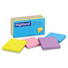 MMM6549B Sticky Note Pads, 3 x 3, Assorted, 100 Sheets MMM 6549B