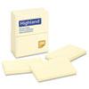 MMM6559YW Self-Stick Pads, 3 x 5, Yellow, 100 Sheets/Pad, 12 Pads/Pack MMM 6559YW