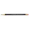 PAP2254 Mirado Black Warrior Woodcase Pencil, HB #2, Black Matte Barrel, Dozen PAP 2254
